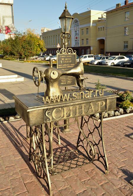 Швейная машинка - памятник в Новосибирске